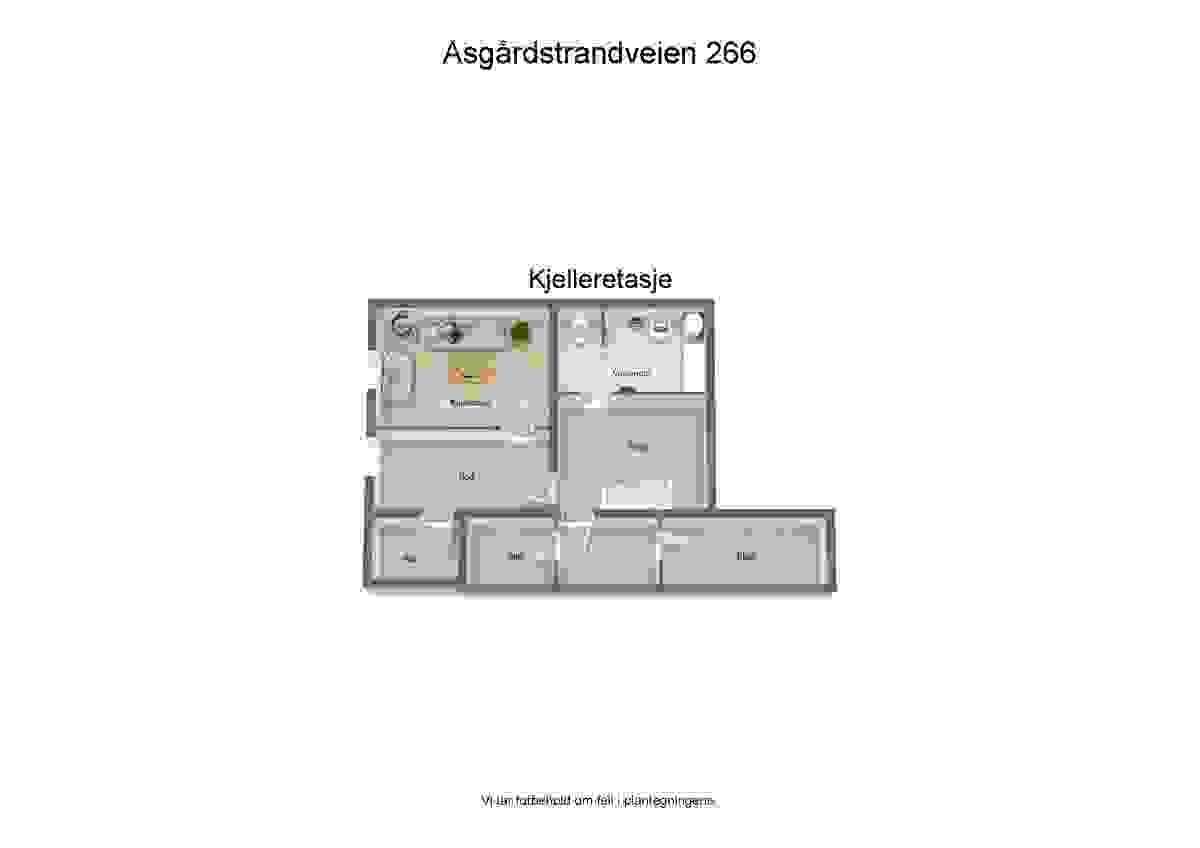 Plantegning kjeller - illustrasjon