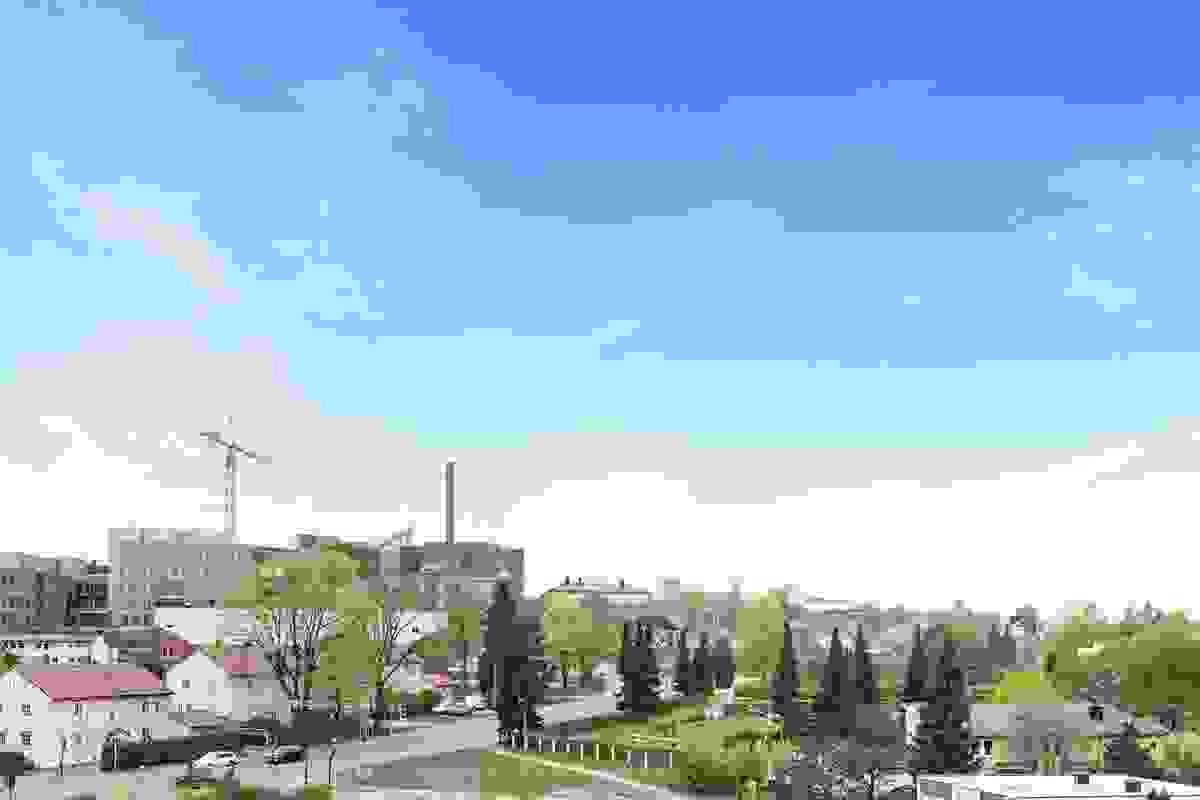 Åpen og fri utsikt over omkringliggende bebyggelse
