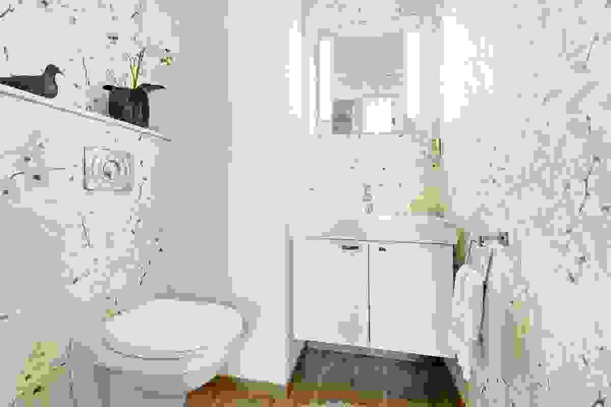 Toalettrommet i toppetasjen