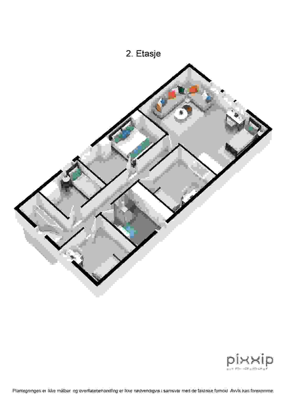 Planskisse - 2. etasje