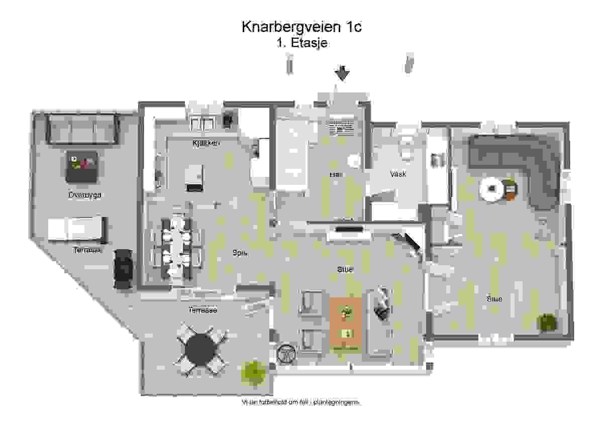 Plantegning 1. etasje - illustrasjon