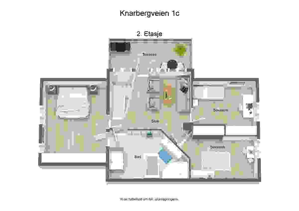 Plantegning 2. etasje - illustrasjon