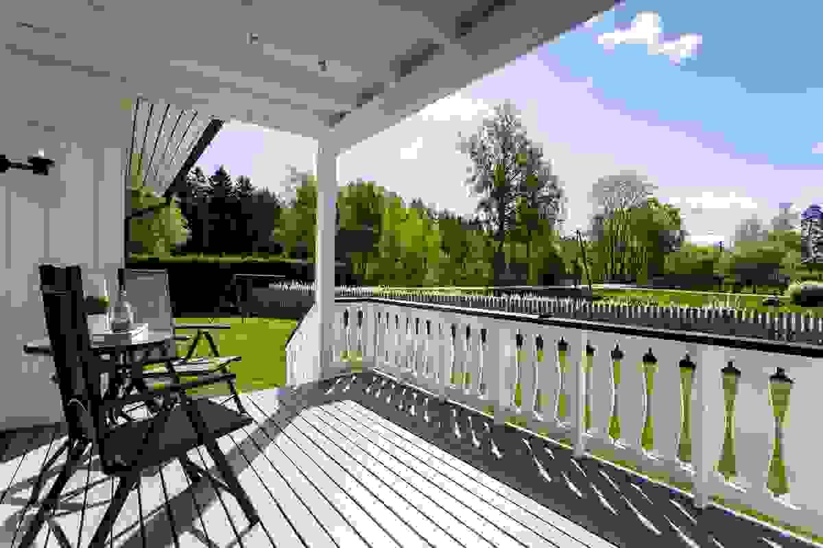 Terrassen er orientert mot syd