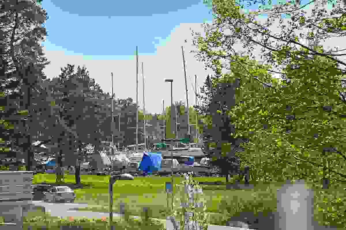 Utsitkt til Vallø båthavn