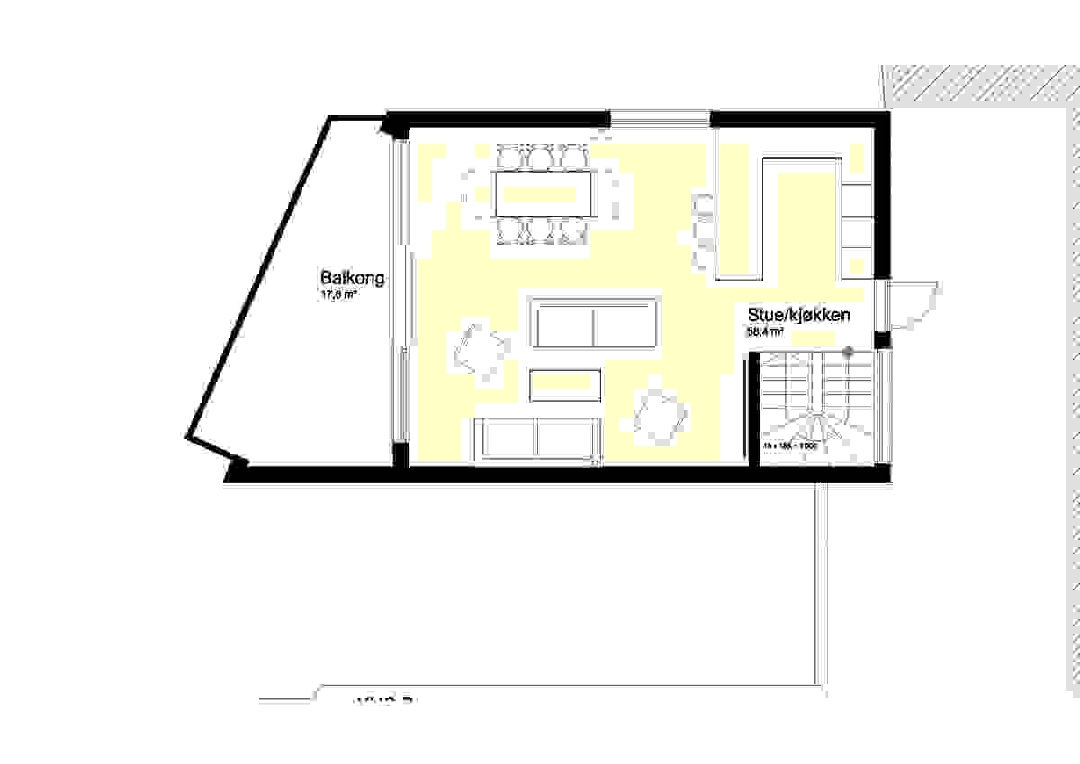 Hus A og B, 2. etasje - illustrasjon