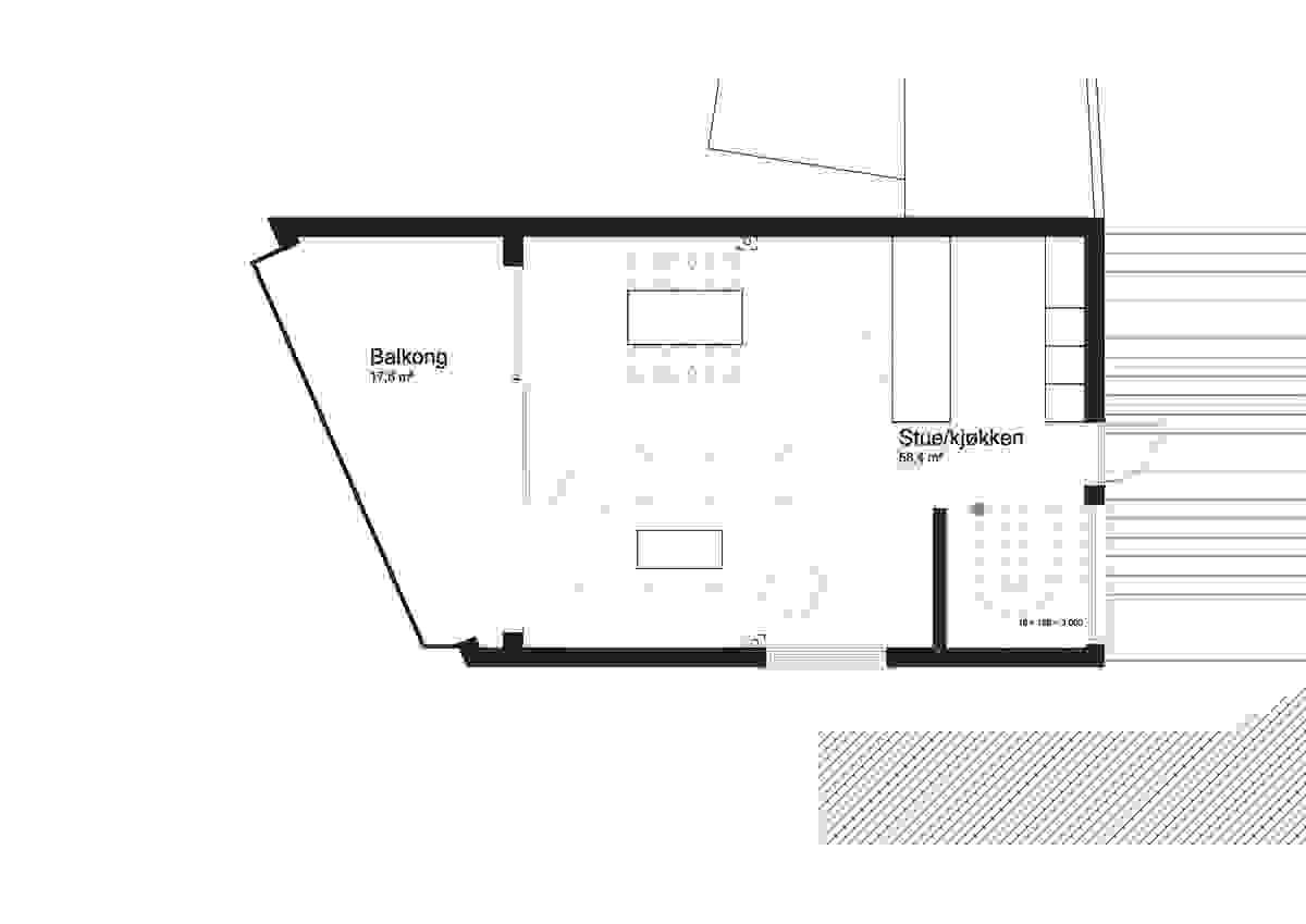 Hus C, 2. etasje - illustrasjon