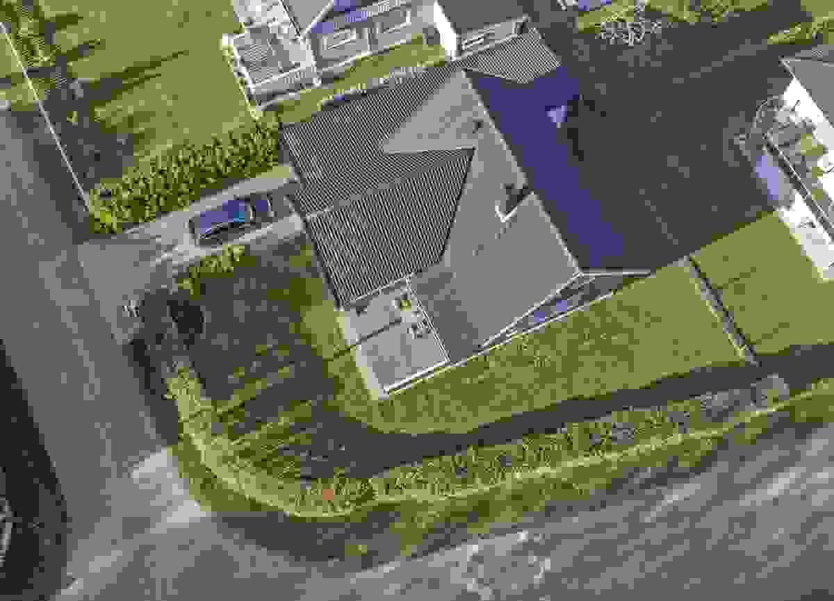 Huset sett fra luften