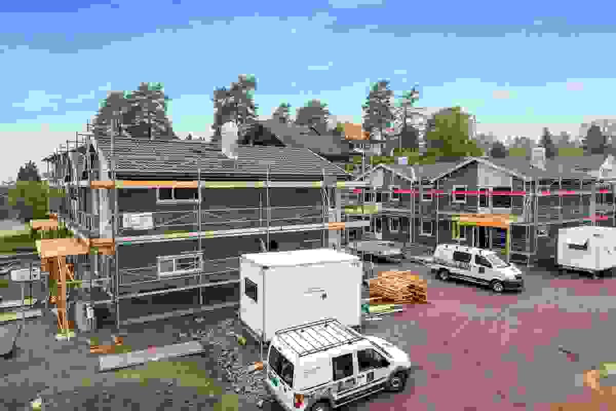 Fasade Hus 1 og 2 samt Hus 3 og 4, mai-2019