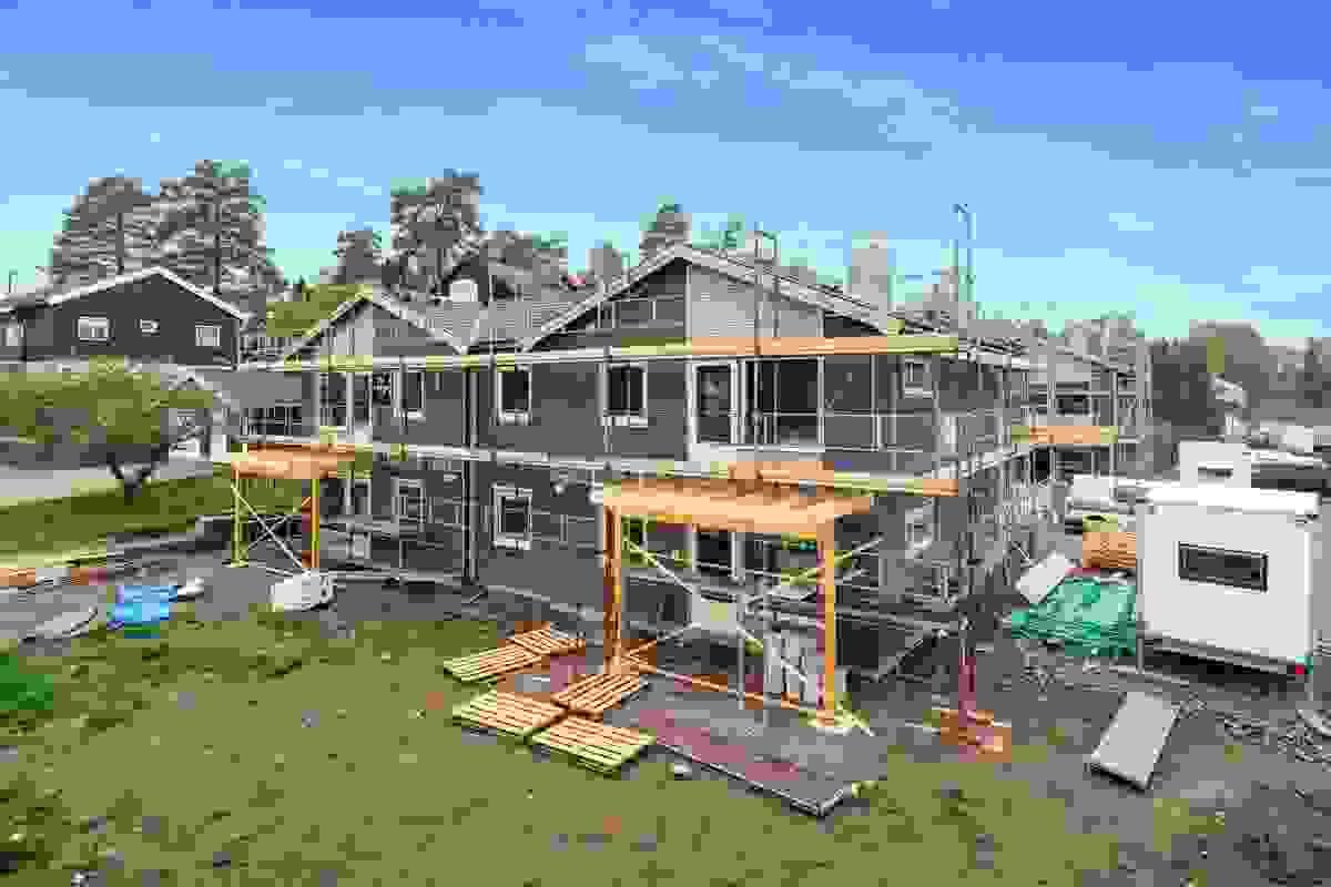 Fasade Hus 1 og 2, mai-2019